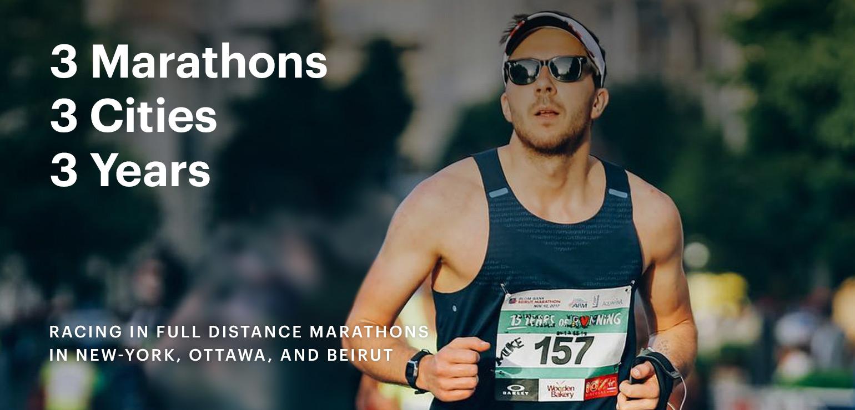 3 Marathons. 3 Cities. 3 Years.